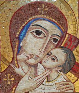 Poslední ze tří mozaiek v penzionu Tõde v Olomouci