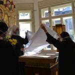 Požehnání kaple Panny Marie Bolestné u sester Těšitelek v Brně
